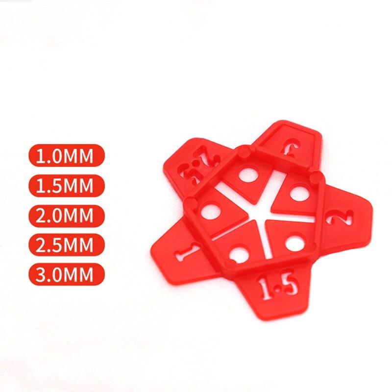 Localizzatore di spazi per piastrelle rimovibili da 50 pezzi 5 dimensioni, può riutilizzare il gap del sistema di livellamento delle piastrelle incrociate, strumenti per la costruzione del pavimento