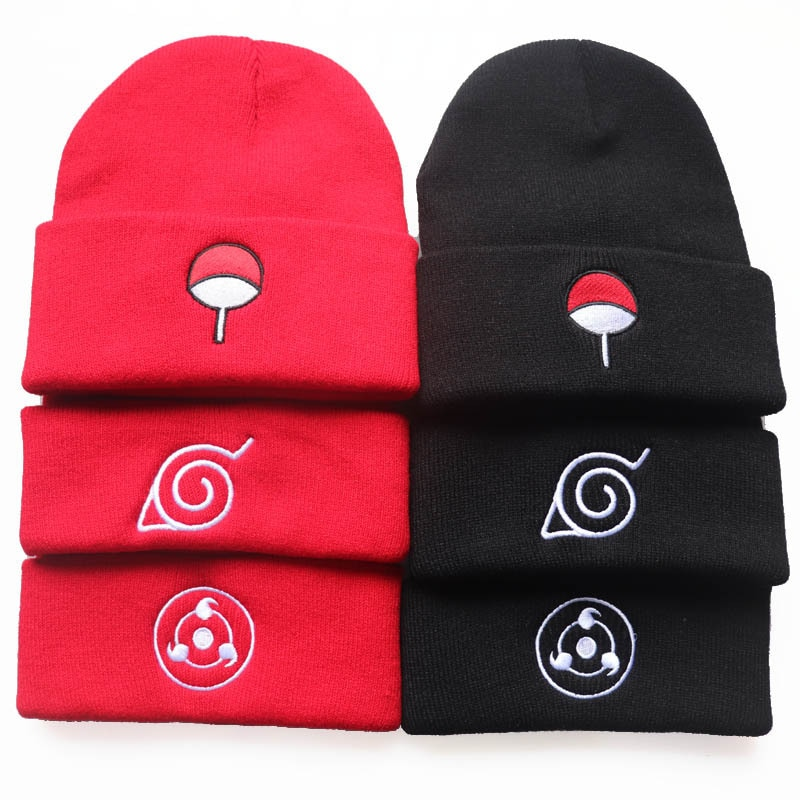 Шапка бини для косплея аниме, шапка Учиха Шаринган, мягкая облачная шапка