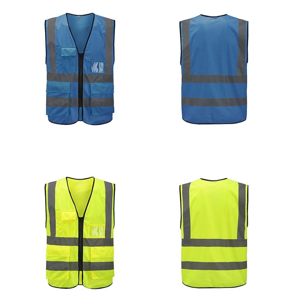 Chaleco reflectante de bolsillo múltiple, chaleco de tráfico, chaleco reflectante de seguridad para mineros de carbón, chaleco de uniforme transpirable XL