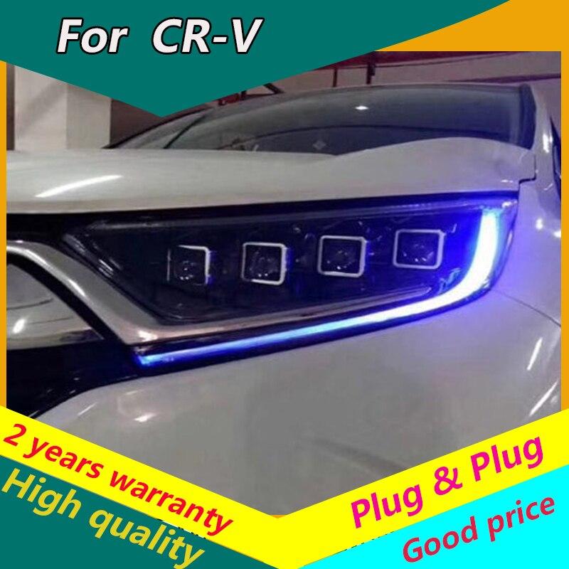 Kowell estilo do carro para honda 2017-2019 CR-V crv faróis todos led farol led drl luz dianteira bi-led lente dinâmica turnsignal