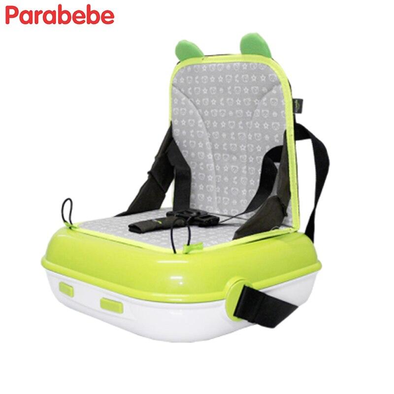 Высококачественное портативное детское кресло, пластиковое сиденье-бустер для кормления детей, детское кресло для путешествий, зеленое кр...