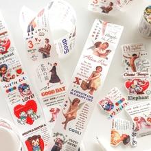 Videbsk licht schwefelsäure Washi Band DIY Scrapbooking Aufkleber Label engel Masking Tape Schule Büro Liefern