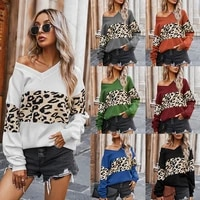2021 autumn winter mohair leopard sweater women pullover plus size womens sweaters high quality knitted oversized sweater jumper