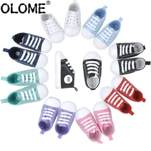 Baby Shoes Infant Canvas Boy Girl Star Solid Sneaker Anti-Slip Newborn First Walkers Soft Sole Toddl