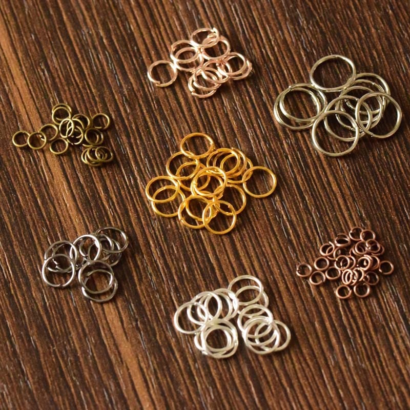 AliExpress - 200/400pcs Wholesale Open Circle Jump Rings Necklace Bracelet Earring Pendant Connectors DIY Making Jewelry Crafts Accessories