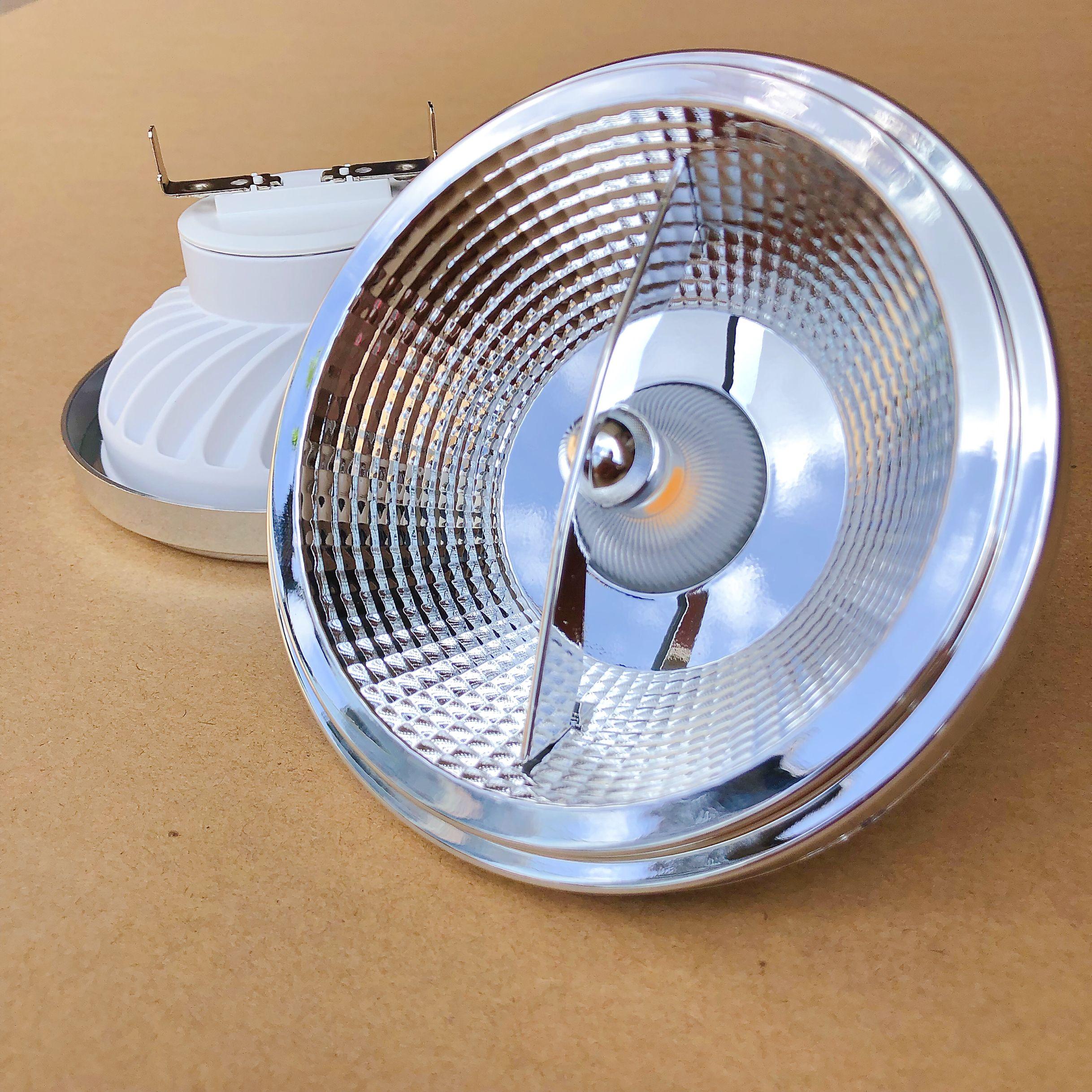 شحن مجاني 15 واط 20 واط LED الأضواء AR111 G53 GU10 LED جزءا لا يتجزأ راحة مصابيح السقف النازل عكس الضوء DC12V AC110V 220 فولت