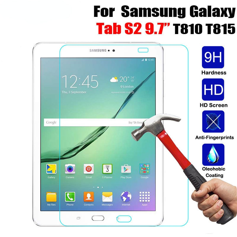 HD Tempered Glass For Samsung Galaxy Tab S2 9.7 inch T810 T813 T815 T819 Tablet Screen Protector 2.5D Premium Protective Film 9H