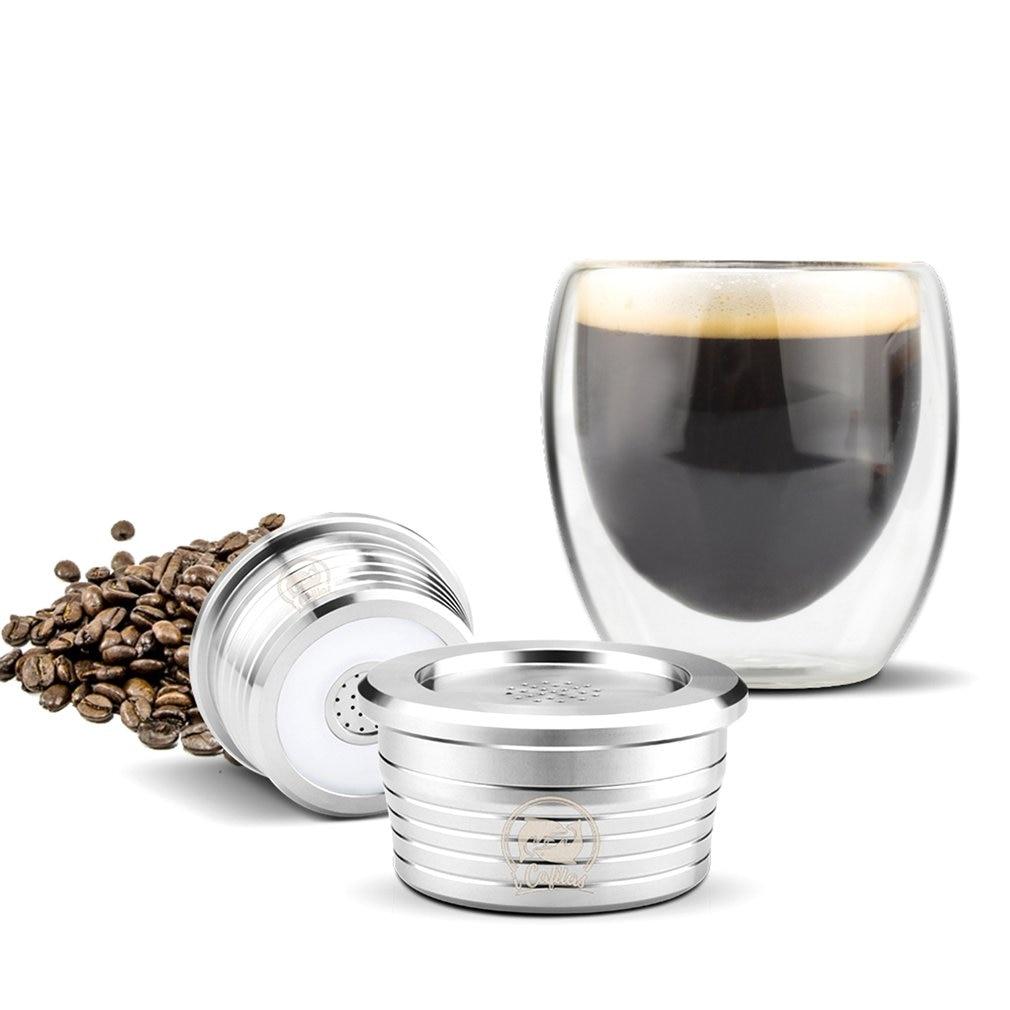 الفولاذ المقاوم للصدأ إعادة الملء القهوة كبسولة جراب تصفية المنقط العبث متوافق مع دلتا Q/ماكينة القهوة