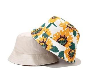 Print Flower Bucket Hat Summer leave Women Cotton Cap Girls Outdoor Fashion beach Bob Sun Female panama hat