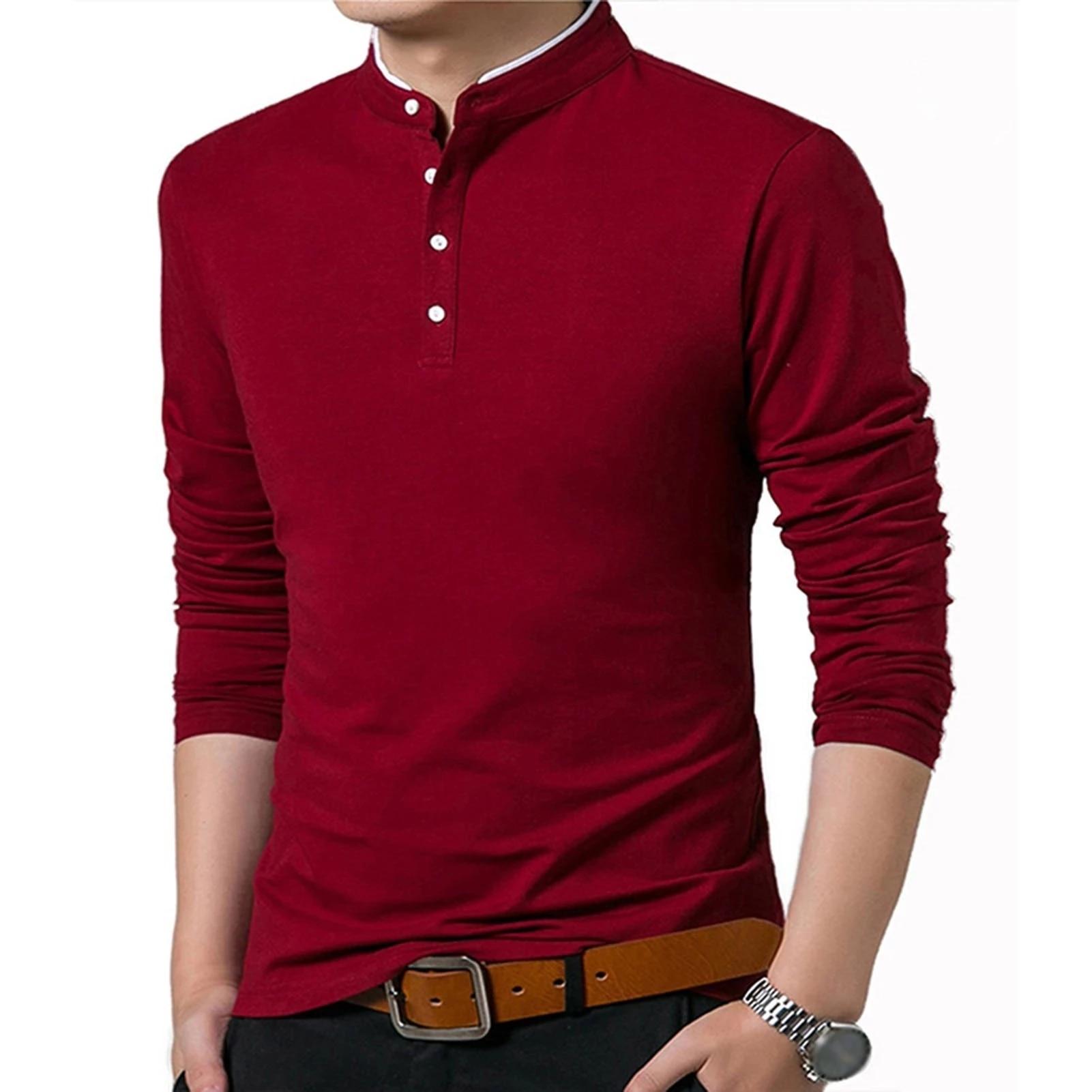 Camiseta de manga corta para hombre de camiseta personalizada de color sólido...