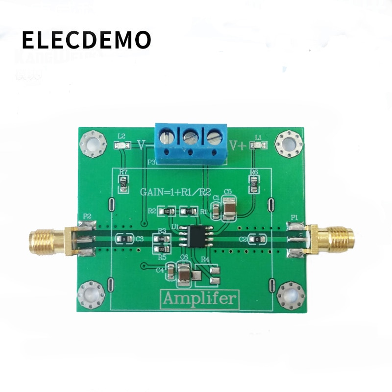 OPA847 Module High Speed Low Noise Op Amp Voltage Amplifier In-phase 3.9G Wideband Pulse Amplification Function demo Board opa843 module wideband low distortion unity gain stabilization voltage feedback operational amplifier function demo board