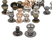 68mm 100set button studs rivet metal screw back spots for leathercraft rivets bullet leather clothing punk diy leather craft