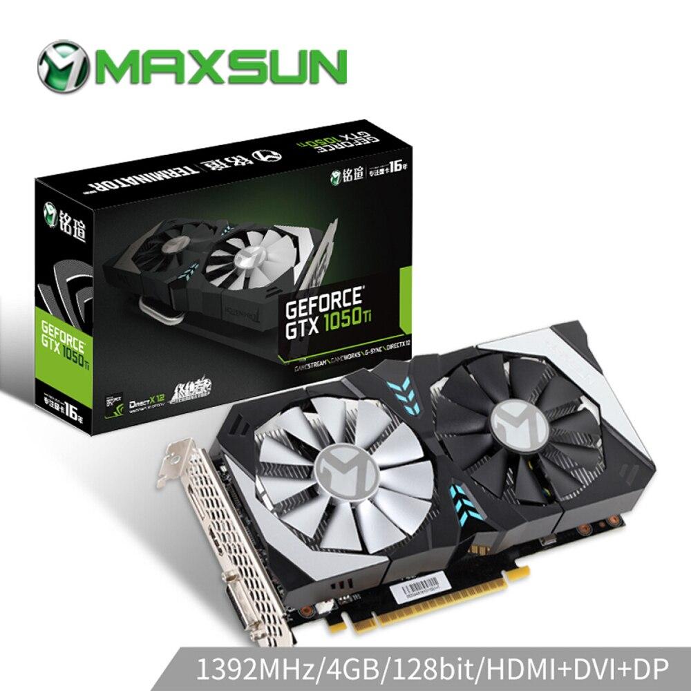 MAXSUN karta graficzna GTX 1050Ti Terminator 4G GPU 128bit GDDR5 NVIDIA 7000MHz 1291-1392MHz 6Pin gtx1050ti karta graficzna do gier