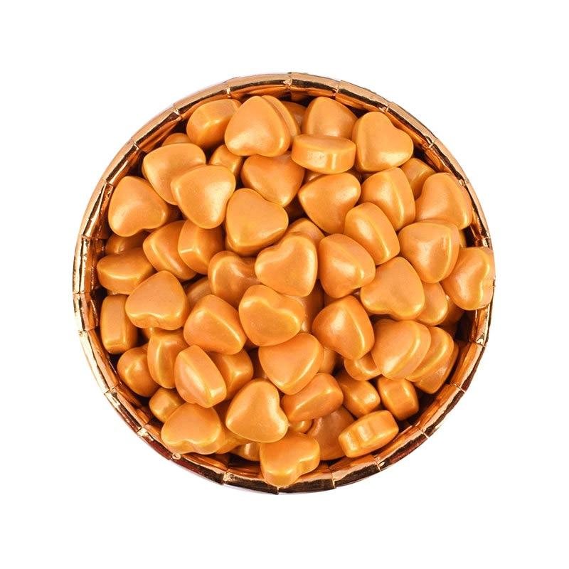500g de Dragees de corazón de oro comestibles de azúcar perlada rociadores de oro para hornear tazas de esfera metálica herramientas de decoración de pasteles