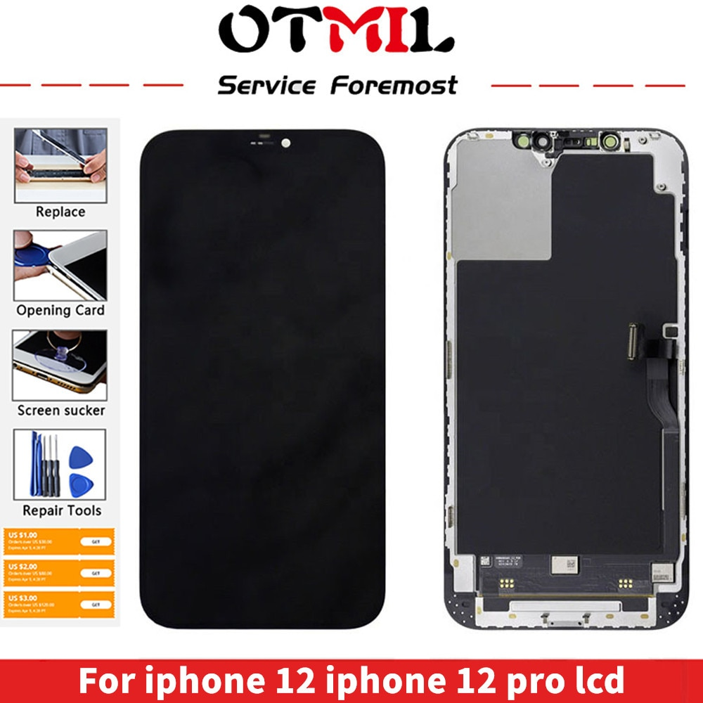 Promo JK Quality mobile phone Lcds For iphone 12 LCD display for iphone 12 iphone 12 pro lcd display screen replacement