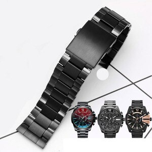 High quality watch strap for DIESEL DZ4318 4323 4283 4309 original stainless steel watch strap men's large case Bracelet 26mm