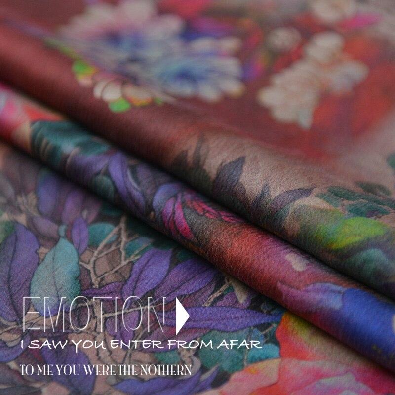 40 Mm satén pesado Xiangyun hilo seda fibroin crepe satén 100% seda tela cheongsam vestido alta calidad tela de diseñador de moda