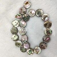 2pcs natural abalone shell round chain