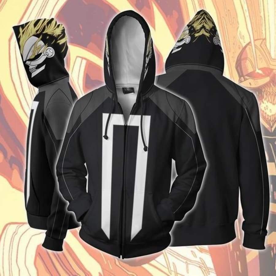 Ghost Rider Cosplay 3d bluzy z nadrukiem dres codzienny bluza z kapturem na zamek bluza z kapturem Hop kostium na halloween kurtka