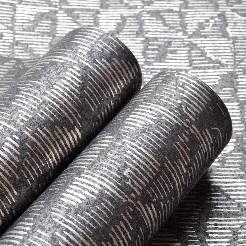Papel tapiz negro metálico liso diseño moderno papel de pared para sala de estar pasillo Decoración