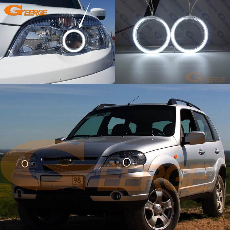 Para chevrolet niva 2009 2010 2011 2012 2013 2014 2015 excelente ccfl anjo olhos kit anéis de auréola iluminação ultra brilhante