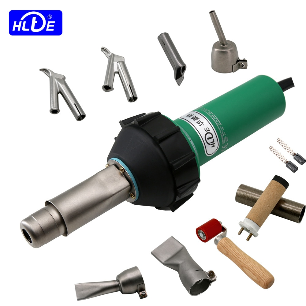 DHL/FedEx 220 فولت/110 فولت 1600 واط البلاستيك لحام بندقية الهواء الساخن الشعلة الحرارة بندقية لحام ل أرضية من كلوريد متعدد الفاينيل ، PP ، PE خزان الميا...