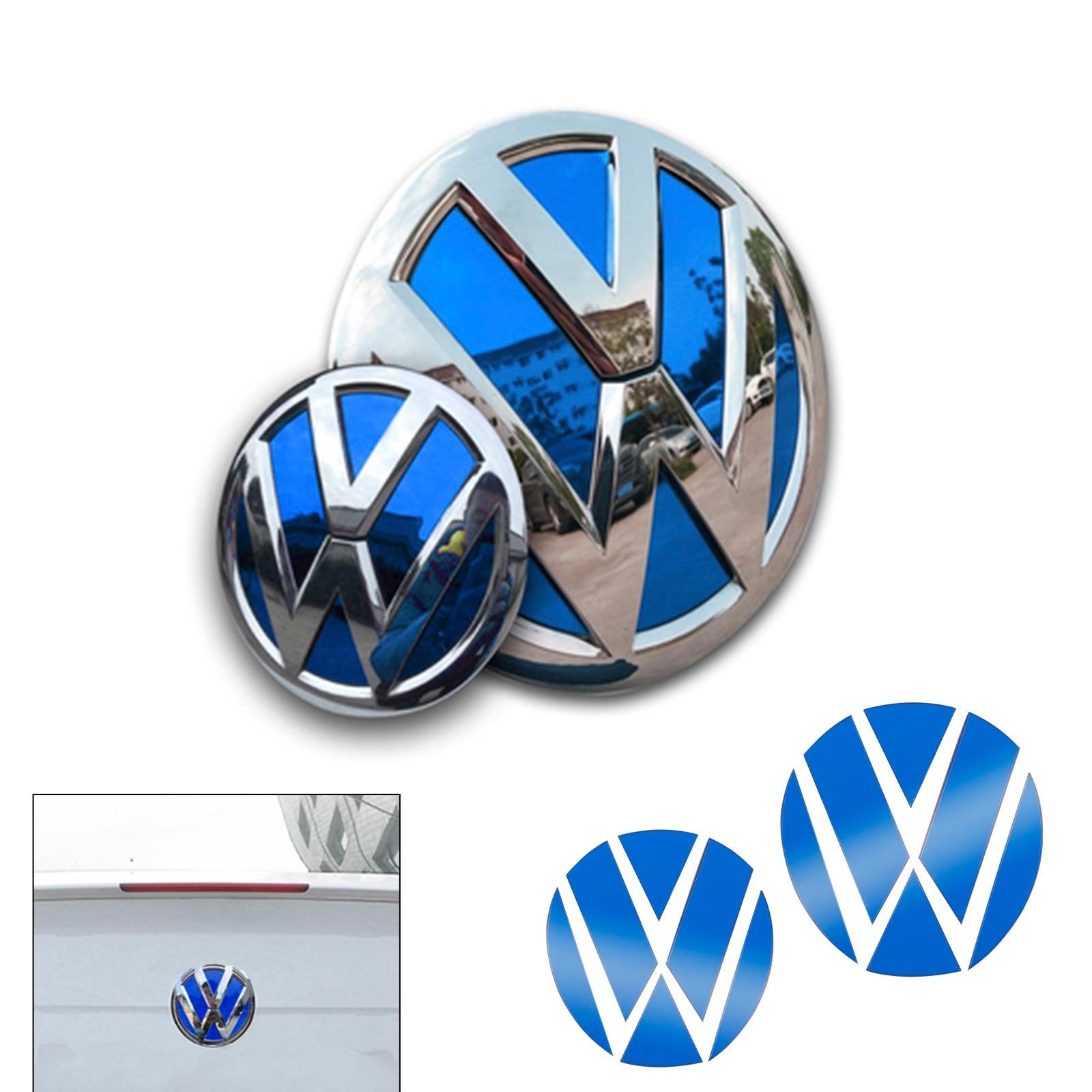 Автомобильный передний гриль + Задняя Крышка багажника значок эмблема логотип Блестящий отражающий стикер декор для VW Volkswagen Golf MK7 7