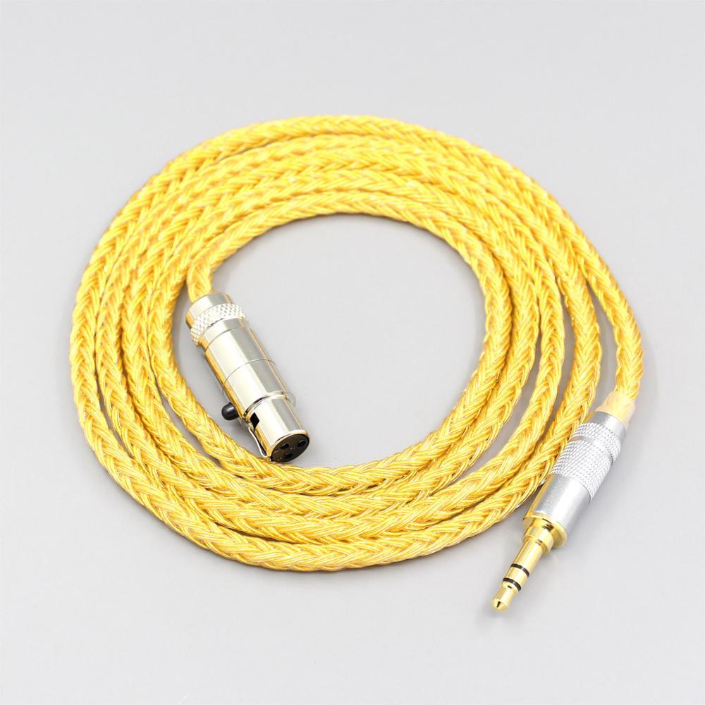 Cable de auriculares chapado en oro OCC de 16 núcleos para AKG...