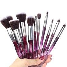 10 Stuks Make-Up Kwasten Soft Professionele Foundation Wenkbrauwen Set Van Blush Voor Cosmeti Blush Powder Foundation Tool Kit Natuurlijke