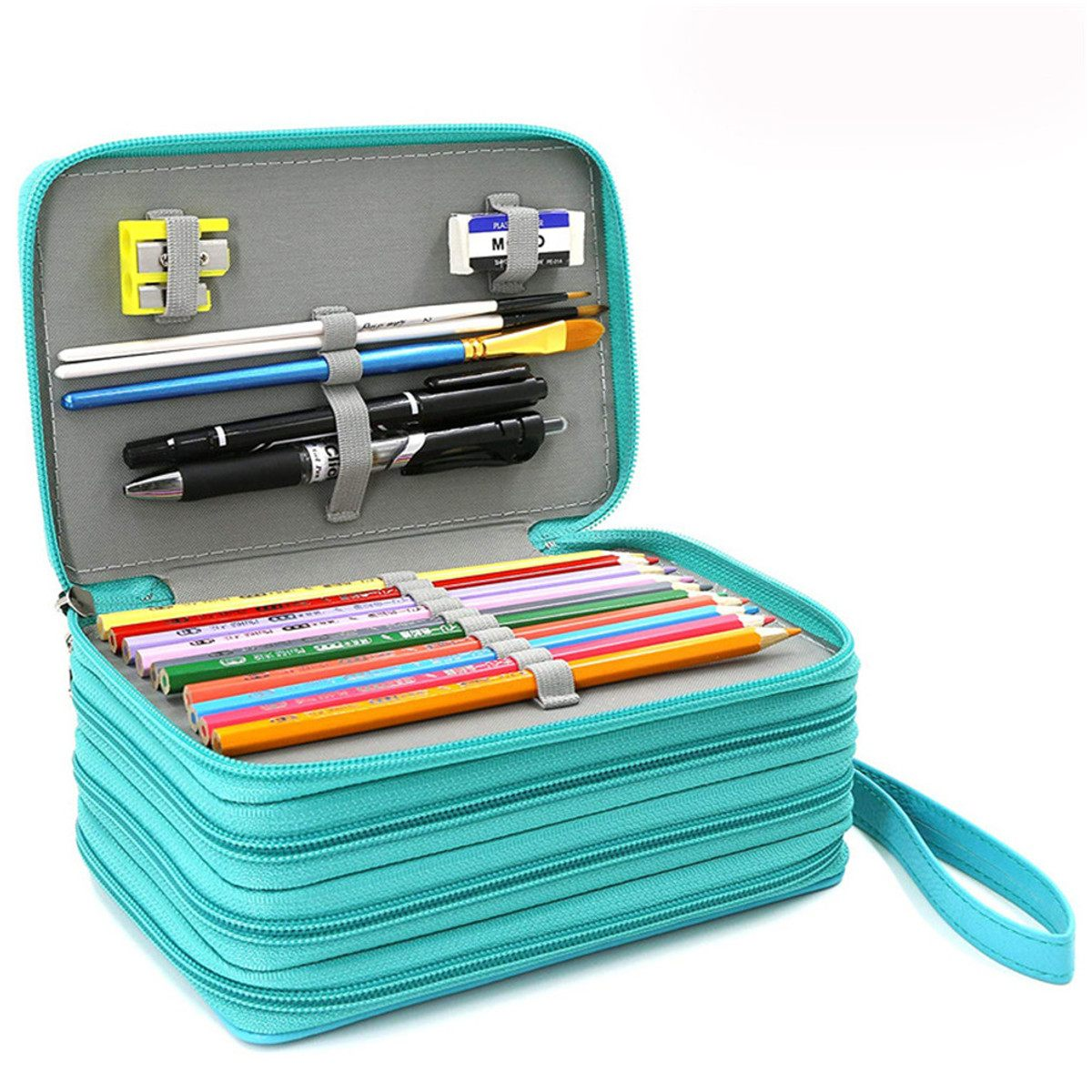 3 Colors School Pencil Case 72 Holes Penal Pencilcase for Girls Boys Pen Bag Large Cartridge Penalties Big Box Stationery Pouch