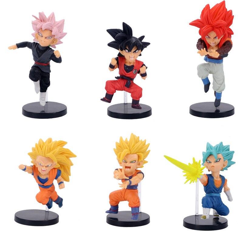 1pcs/lot Dragon Ball Figures Son Goku Gohan Vegeta Trunks Kale Jiren Cell Frieza Gotenks Buu Broly Piccolo Beerus WCF Model Toy