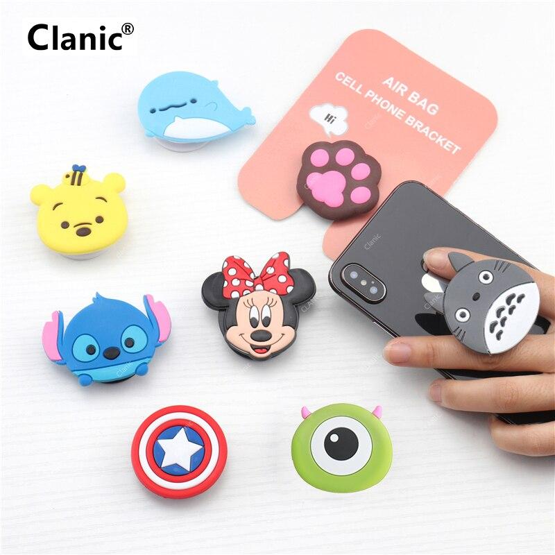 Nette Cartoon handy grip bracket telefon ausbau stehen telefon finger ring halter für handys für iphone x xs 8 xiaomi redmi