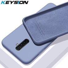 Étui en silicone liquide KEYSION pour Realme X2 Pro XT Q 5 Pro couverture de téléphone arrière en caoutchouc souple de luxe pour OPPO A5 A9 2020 Reno 2 Reno 2 Z