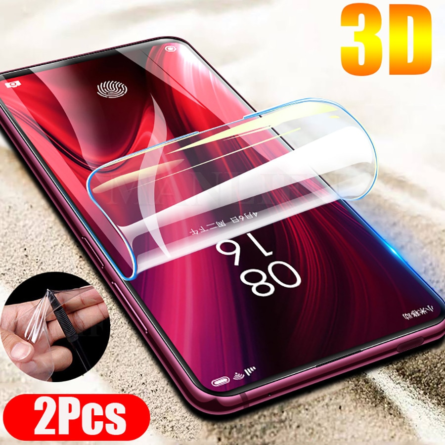 2 Pçs/lote 9D Frente Protetor de Tela TPU Macio Completa Capa Para Xiaomi Redmi Nota 9S K30 K20 Pro Mi 10 Pro 5G Hidrogel Adesivo Filme
