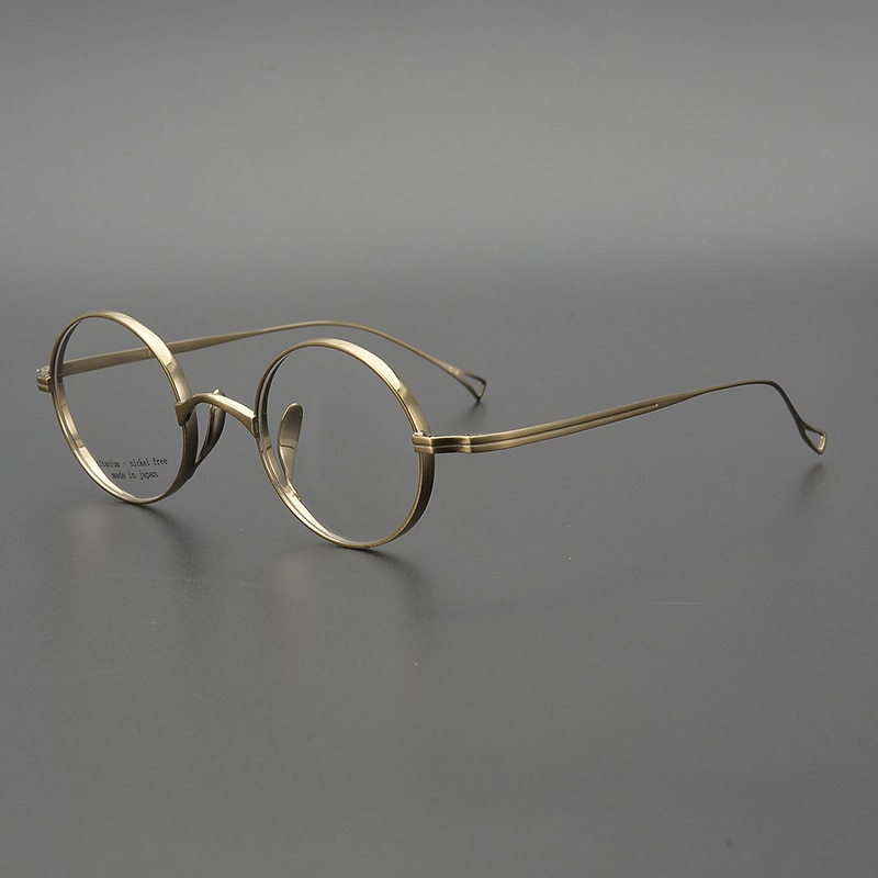 Zerosun vintage óculos masculinos pequenos redondos titânio homem janpanese lennon nerd óculos miopia anti azul lente