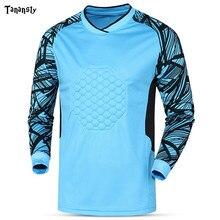 Hommes gardien de but maillots à manches longues Rugby football chemise but gardien sport football haut dentraînement chemises joueur professionnel tissu