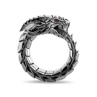 1 piece of three dimensional neo retro punk exaggerated ouroboros ring fashion personality snake ring jewelry as a gift