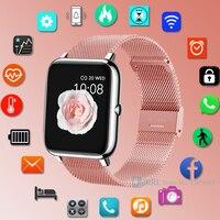 Смарт-часы с полностью сенсорным экраном, мужские и женские Смарт-часы для Android, IOS, фитнес-трекер, электронные смарт-часы, спортивные водонеп...