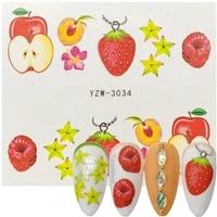 1 sheet nail wraps decals fruit apple strawberry cherry nail tattoos sticker water decal nail art watermark slider decor