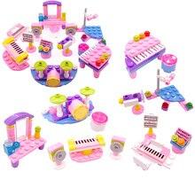 Jouets pour enfants musique filles Piano son modèle Kit bricolage combinaison éducative assemblé blocs de construction briques enfants cadeau N08