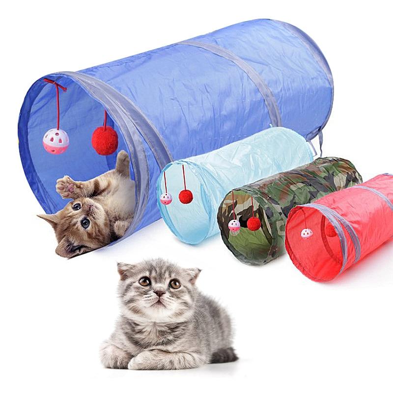 Túnel para mascotas, juego de gato de Color, túnel de camuflaje, túnel largo y divertido para gatos, juguete para gatos, juguete plegable para gatos grandes, túnel de juguete, diámetro 25cm