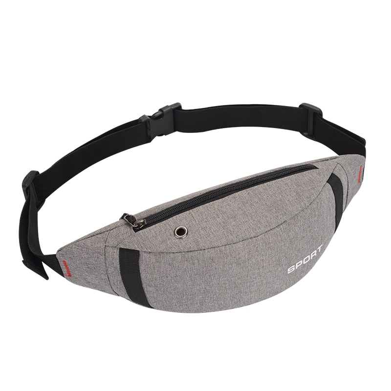 2021 Fashion Solid Color Canvas Sports Outdoor Running Waist Pack