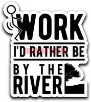 car stickers vinyl motorcycle decal decoration laptop screw work id rather be by the river decal sticker