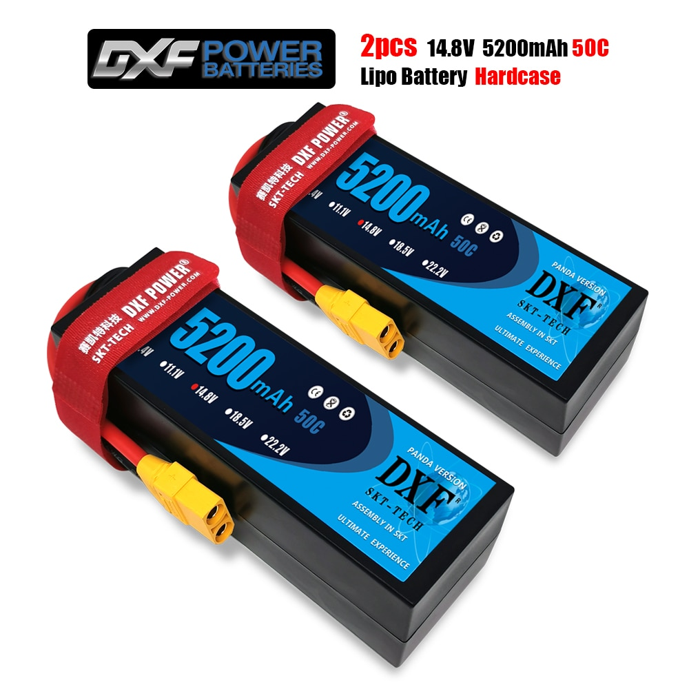 2PCS DXF Lipo battery  2S  4S 7.4V 14.8V 50C-100C HardCase Lithium Polymer for RC Car Boat Drone Robot FPV truck