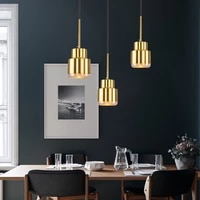 modern e27 led pendant light gold hanging lamp chandelier indoor home kitchen bedroom living room study decoration illumination