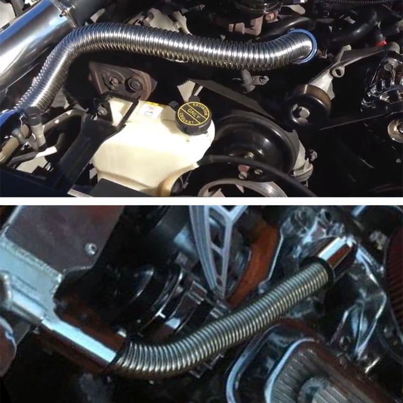 Universal flexível superior/inferior kit de mangueira do radiador do carro e aço inoxidável com tampão cromado 28 tb