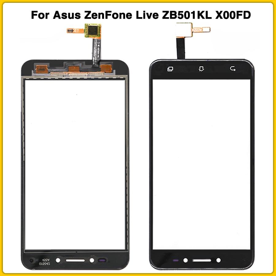 "Nueva pantalla táctil para Asus ZenFone Live ZB501KL X00FD A007 5,0 ""Panel de pantalla táctil digitalizador Sensor lente de vidrio exterior"