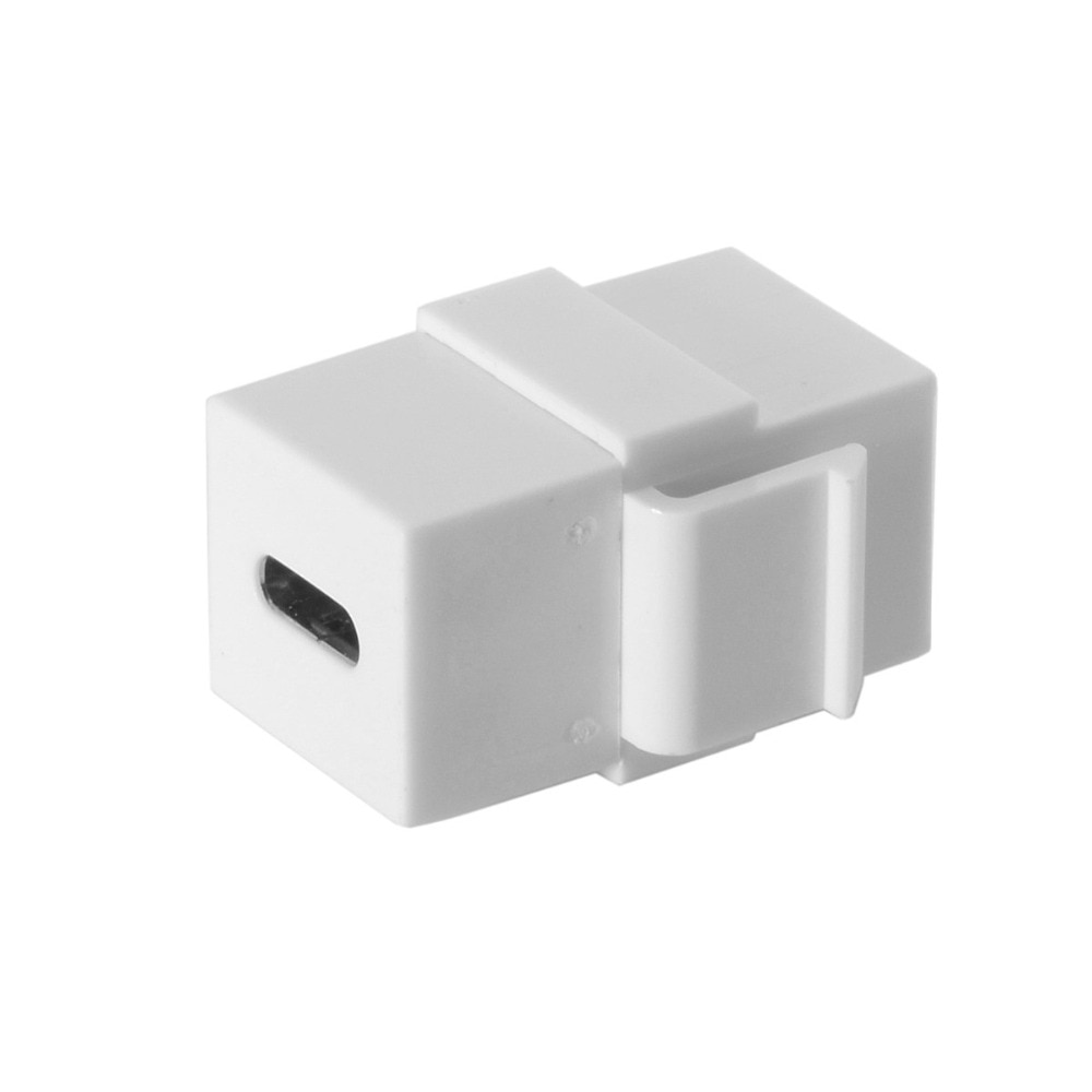 100pcs/lot USB3.1 USB-C Type-C Female to Female Extension Keystone Coupler Adapter for Wall Plate Panel