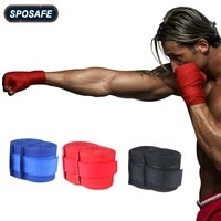 2pcspair professional portable sports wrist support elastic hand wraps pure cotton sweat style hand wraps for boxing kickboxing