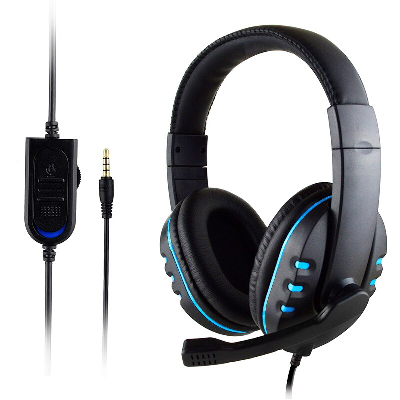 3.5 مللي متر السلكية سماعات الألعاب/ألعاب سماعة لعبة سماعات مع ميكروفون التحكم بحجم الصوت ل PS4 بلاي ستيشن 4 X مربع واحد PC